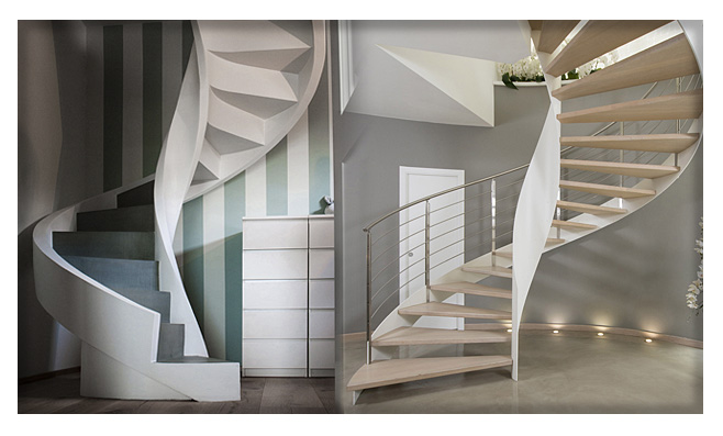 Le scale a chiocciola nella ristrutturazione
