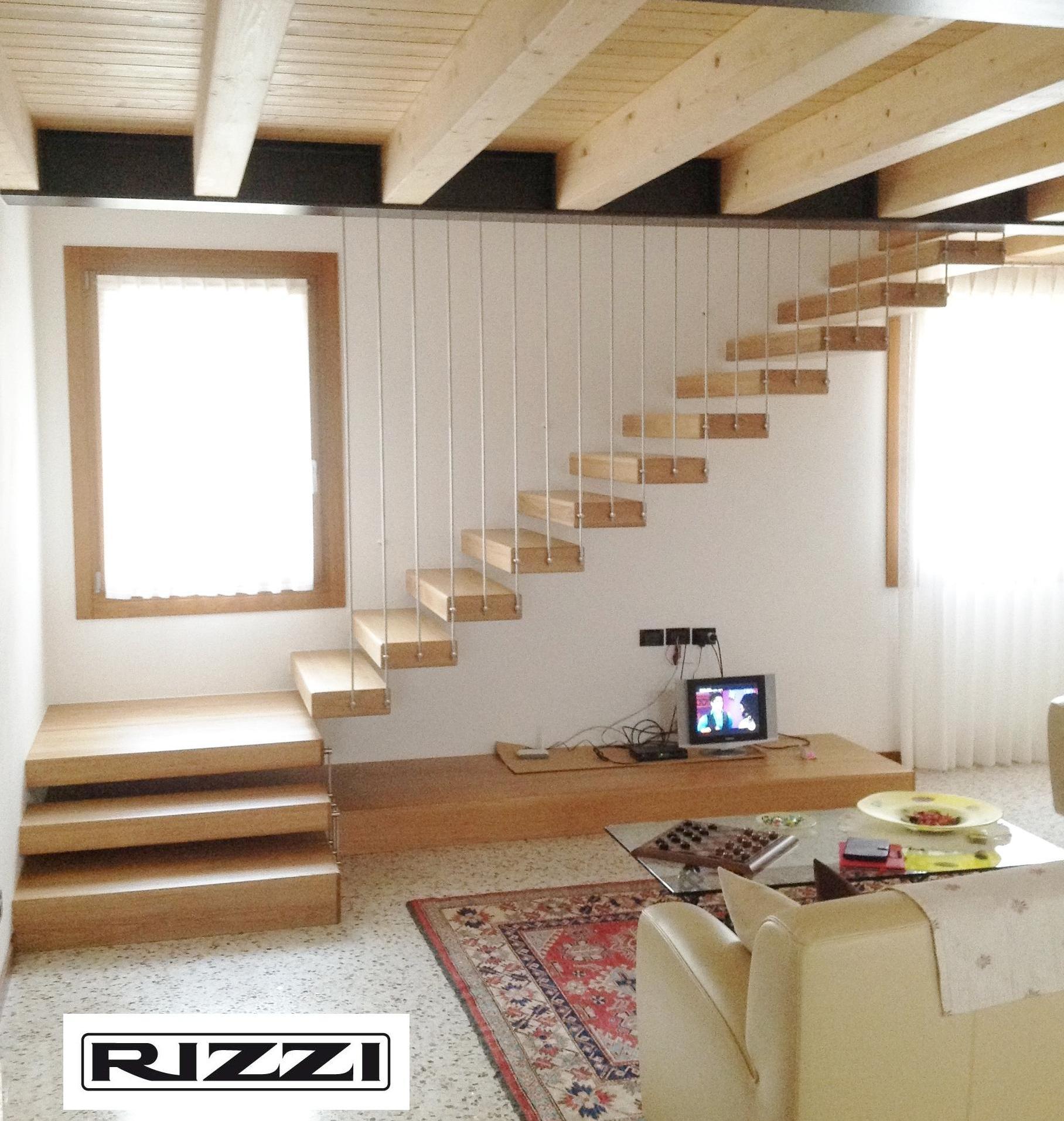 Wooden staircase stl 07 - Escalier suspendu quart tournant ...