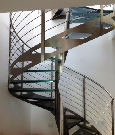 escaliers en colima on en acier et verre eli ac 10. Black Bedroom Furniture Sets. Home Design Ideas