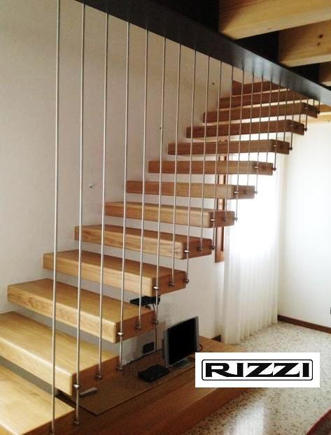 Scale a giorno in legno for Coprigradini per scale in legno