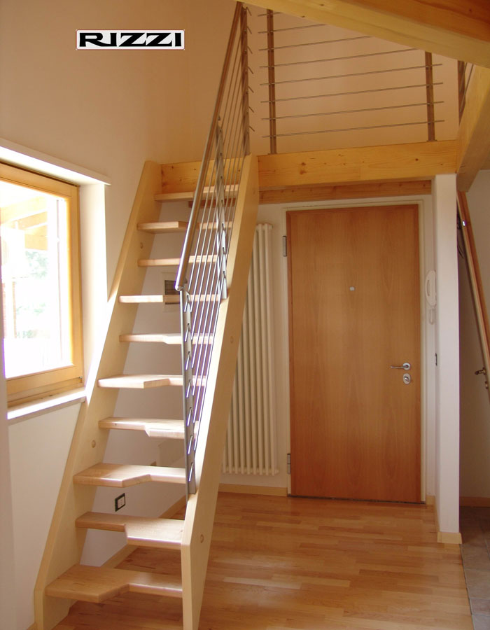 scale autoportanti a giorno in ferro acciaio legno per