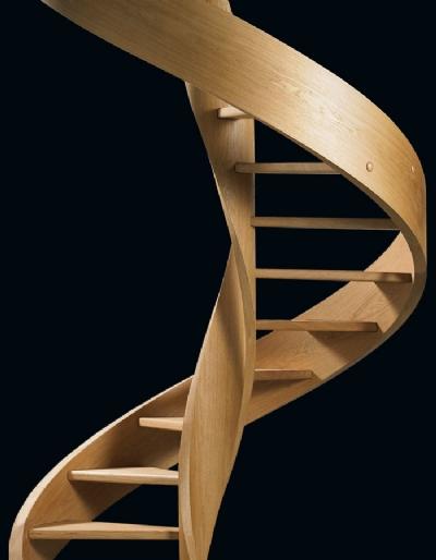 RIZZI SCALE - Scale a chiocciola per interni in legno Eli Le 03